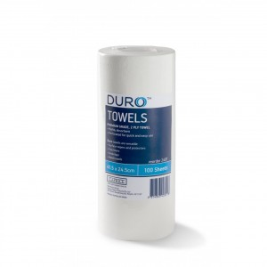 Duro Towel Roll Perforated 100 sheets x 24.5cm