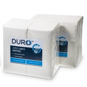 Duro Lunch Napkin 2 ply 300mm x 300mm GT Fold