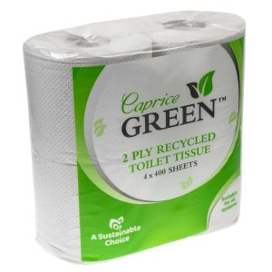 Caprice Green Toilet Paper Roll 400 Sheet 4 Pack