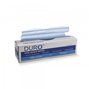 Duro Perforated Wiper Roll in Dispenser Box 45 metre x 42.5cm