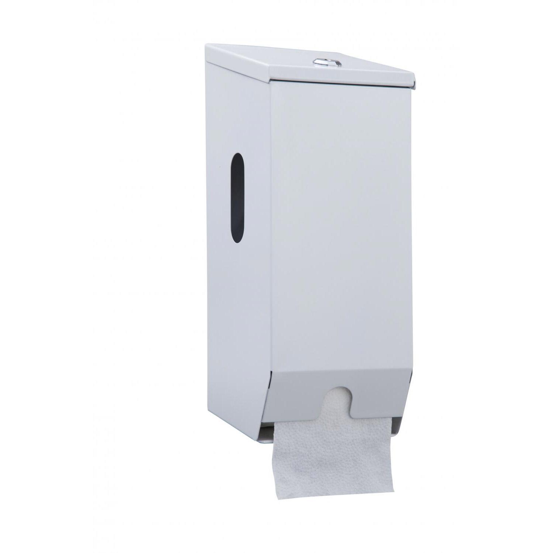 2 Roll Toilet Roll Dispenser Metal Caprice