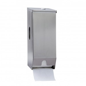 2 Roll Toilet Roll Dispenser (Stainless Steel)