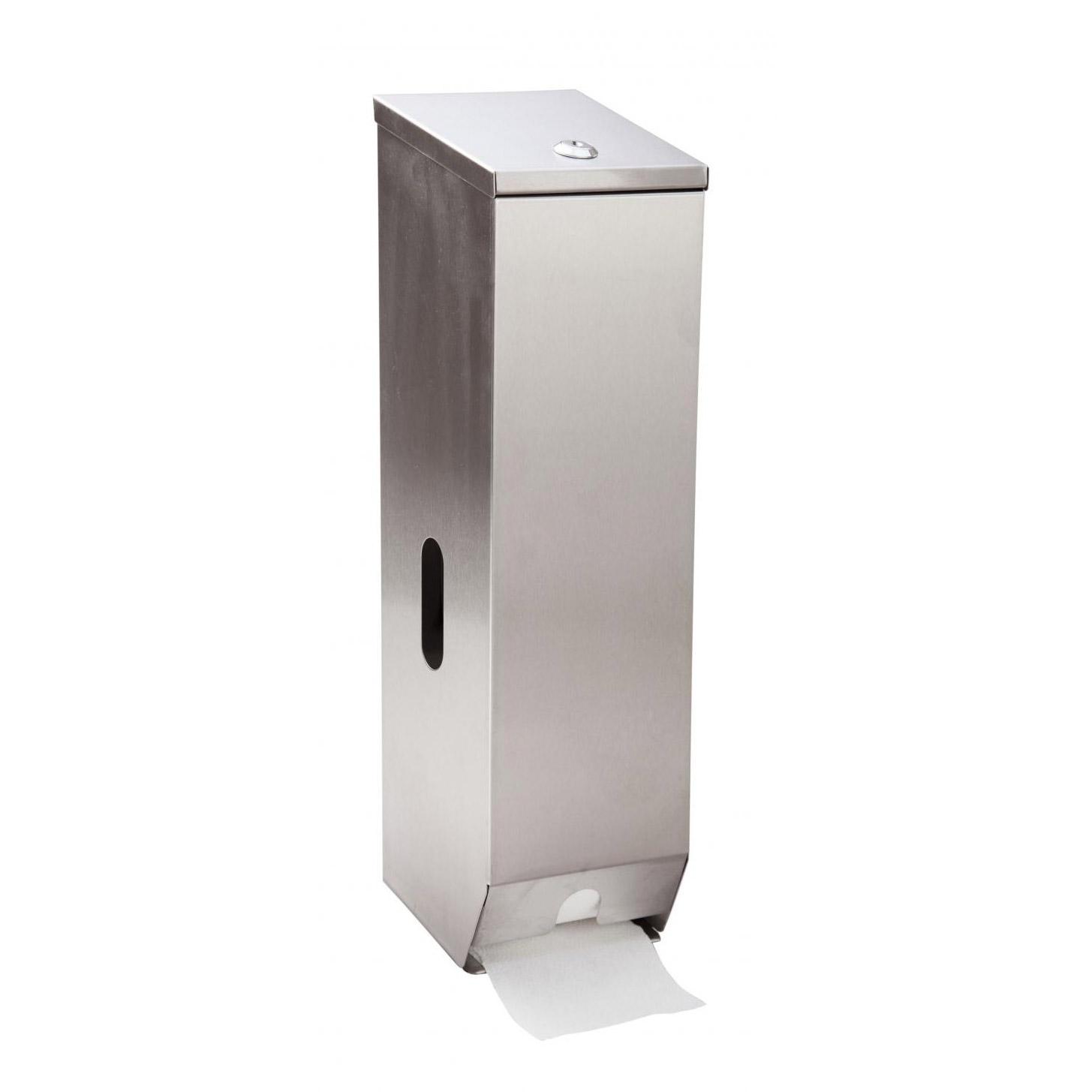 3 Roll Toilet Roll Dispenser Stainless Steel Caprice