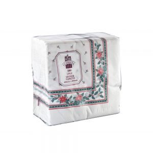 Caprice Dinner Napkin 2 Ply – 400mm x 400mm Printed Christmas Design