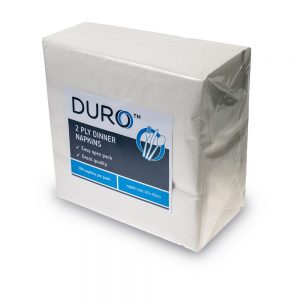 Duro Dinner Napkin 2 ply 400mm x 400mm