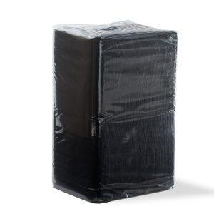 Ultrasoft Quilted Cocktail Napkin Black