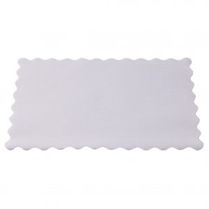 Caprice Placemat Scalloped Edge 355mm x 240mm White