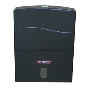 Caprice Interleaved Towel Dispenser (Black ABS Plastic)