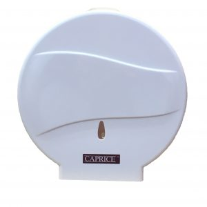 Caprice Jumbo Toilet Roll Dispenser (White ABS Plastic)